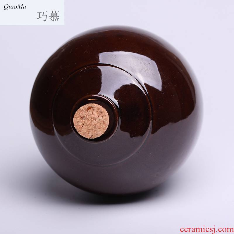 Qiao mu ceramic bottles 1 kg 2 catties 1000 ml earthenware jar liquor bottles of vintage hip shing wine