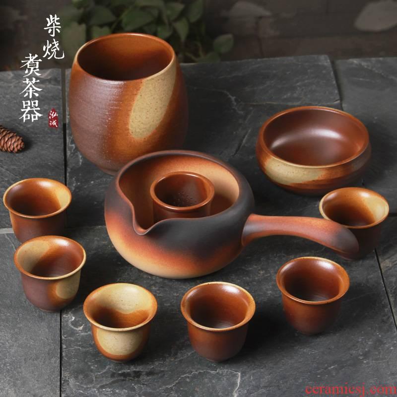 A complete set of ceramic boiling tea machine electricity TaoLu suit tea stove cooked this teapot teacup tea dry black tea mercifully bowl