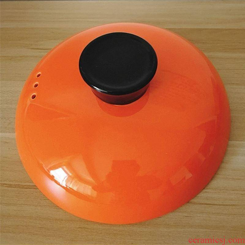 The General round ceramic casserole lid package mail stew with single water sand for home purple soup crock to hold to high temperature