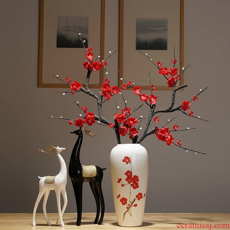 Jingdezhen ceramics vase new Chinese I household study between desktop decoration decoration example flower arranging flowers