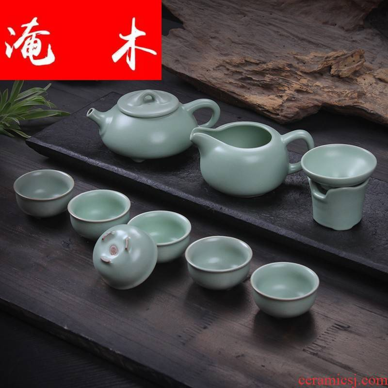 Submerged wood and wave your up tea set a cicada on the porcelain ceramic kung fu tea tea pot of a complete set of tea cups