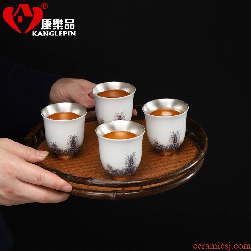Recreational product ceramic gold colored enamel coppering. As silver cups manual small sample tea cup glass sheet fullness of household utensils