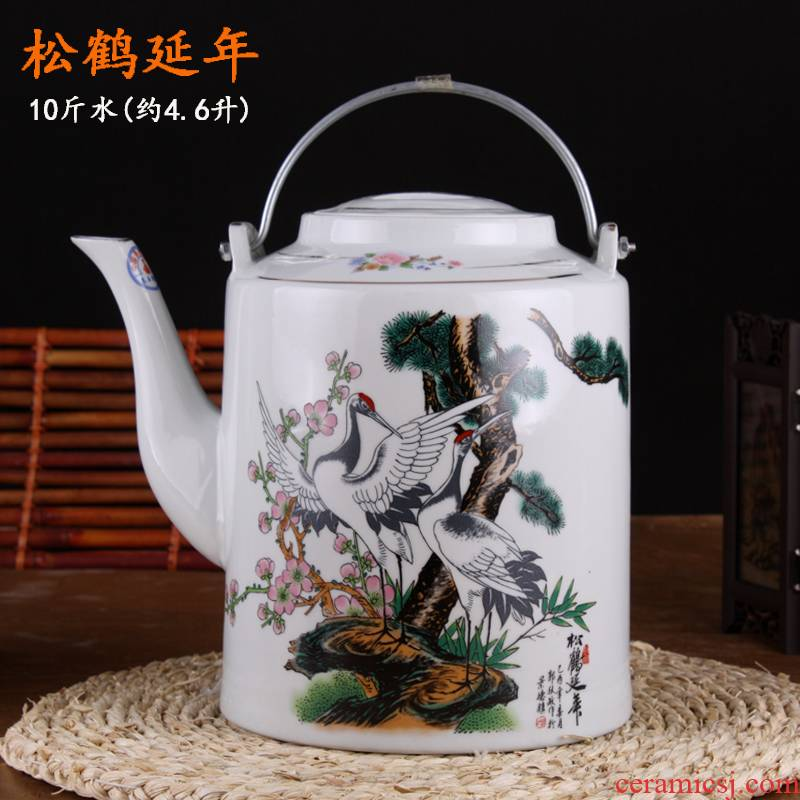 The large capacity of jingdezhen ceramic heat and cold cool large pot teapot heat resisting high temperature The blowout girder pot bag in The mail