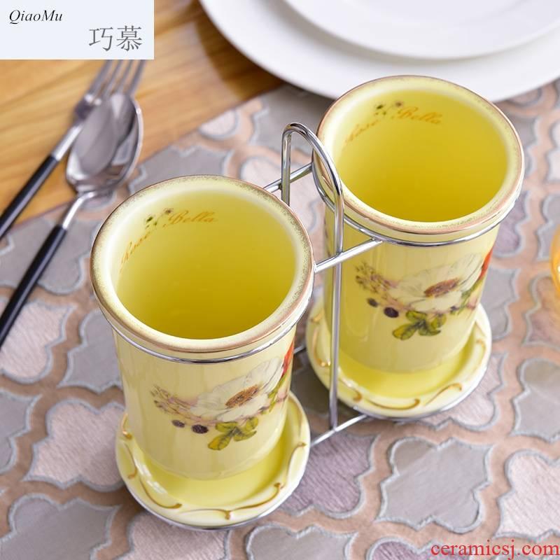 Qiao mu ceramic tube home European waterlogging under caused by excessive rainfall chopsticks Jin Qiangwei