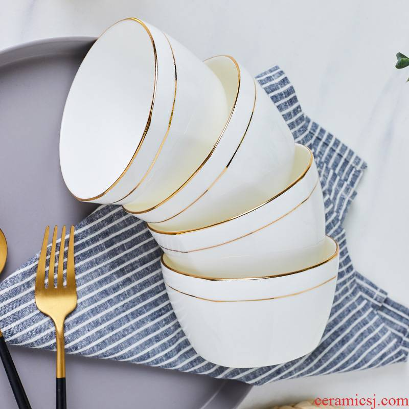 Jingdezhen Jingdezhen ceramic rice bowl of household of Chinese style rainbow such use contracted ceramic bowl sets up phnom penh square your job