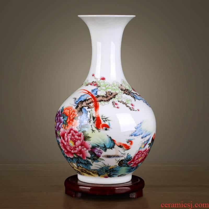 Jingdezhen ceramics floret bottle home furnishing articles dried flower arranging flowers, Chinese style living room TV cabinet handicraft