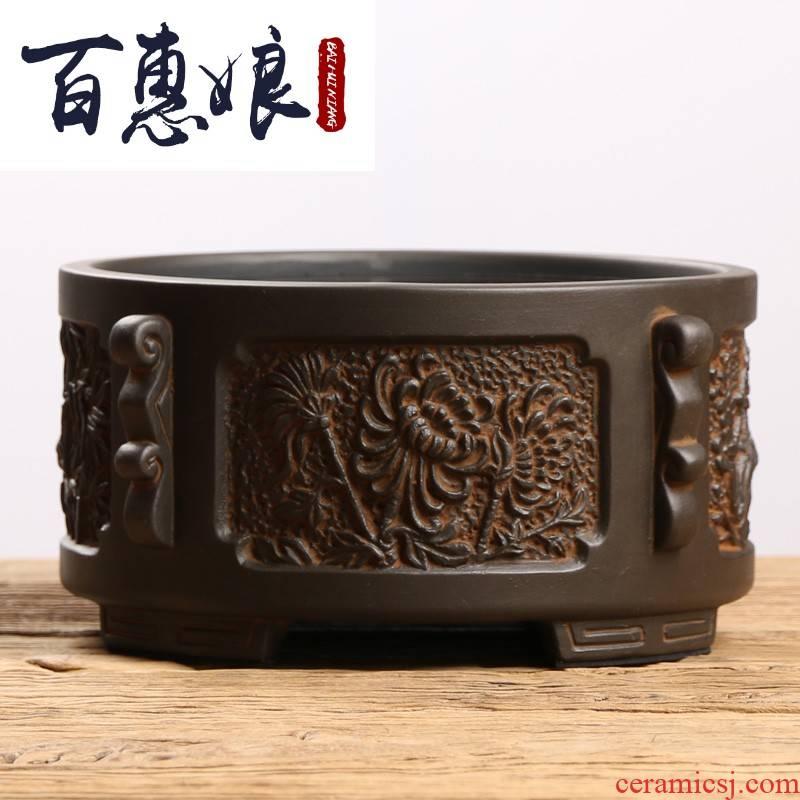(old niang mud rock electricity TaoLu tea stove cooking pot of tea ware iron pot of glass plates tea accessories desktop.mute boiled