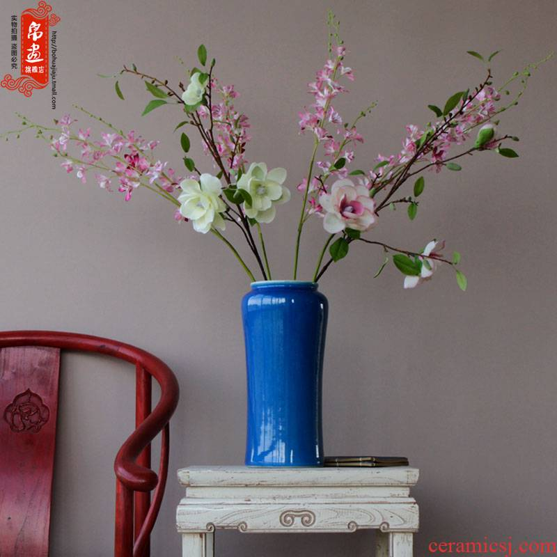 Jingdezhen ceramic dry flower vases, flower decoration home desktop flower flower implement the sitting room porch decoration