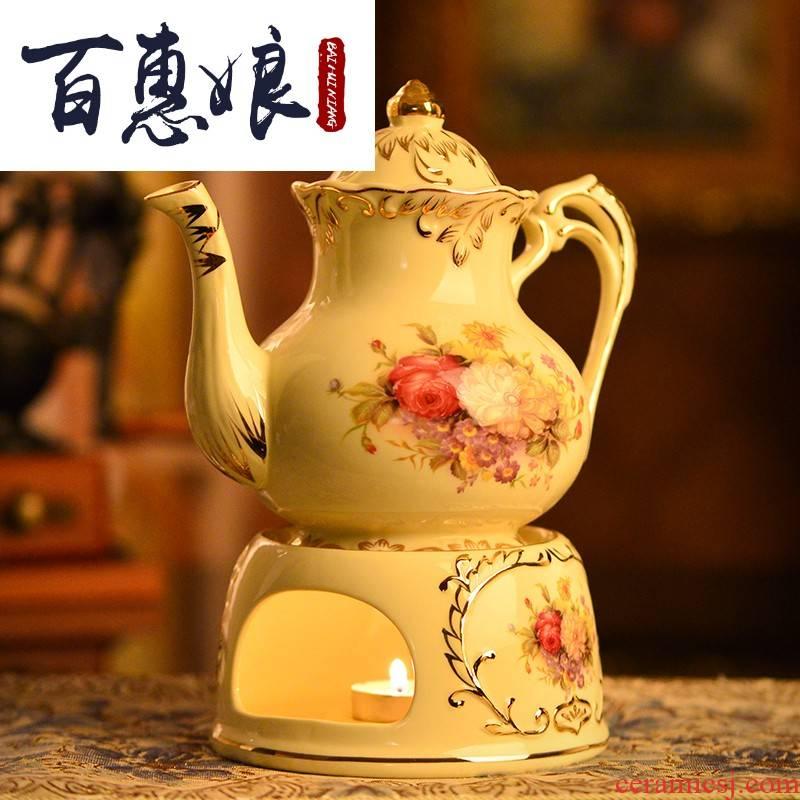 (niang heating the teapot tea warmers heating base glass teapot tea European - style coffee pot constant gm candles
