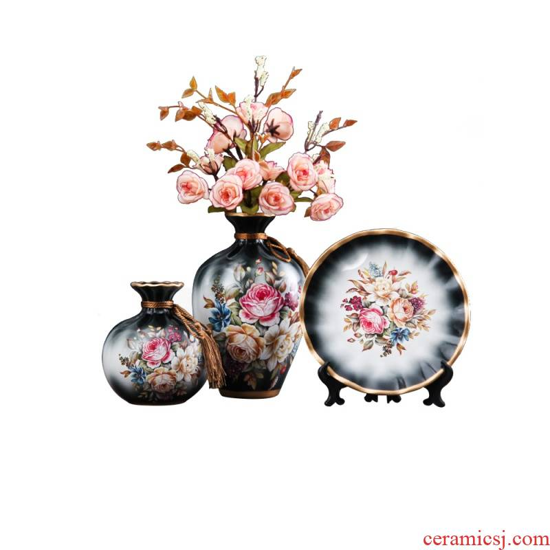 Nordic ins creative contracted wind ceramic dry flower floret bottle arranging flowers sitting room home furnishing articles