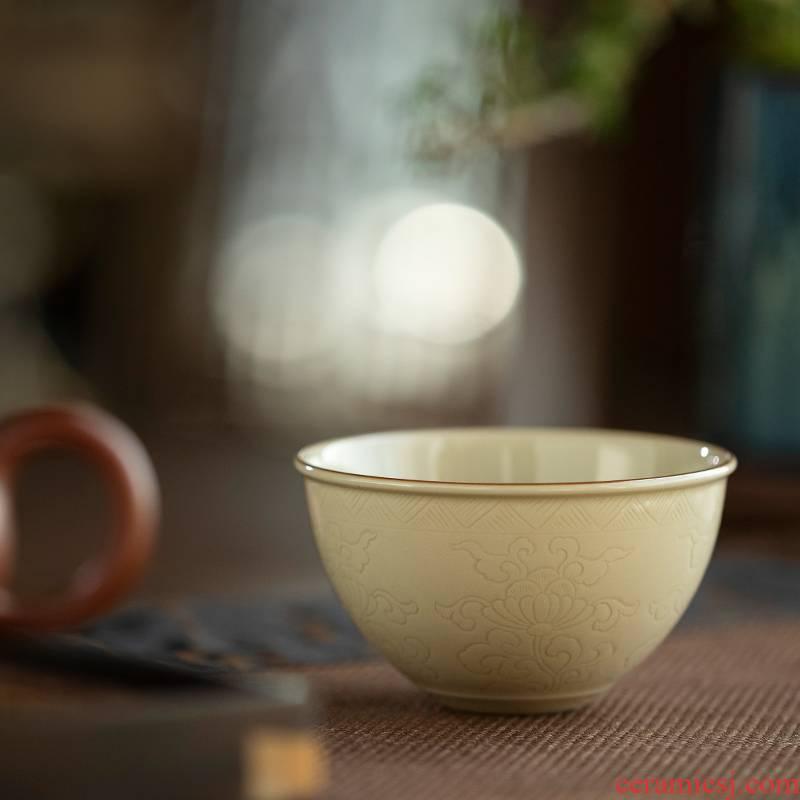 Jingdezhen up lie fa cup manual master cup cup single sample tea cup kung fu tea set small bowl