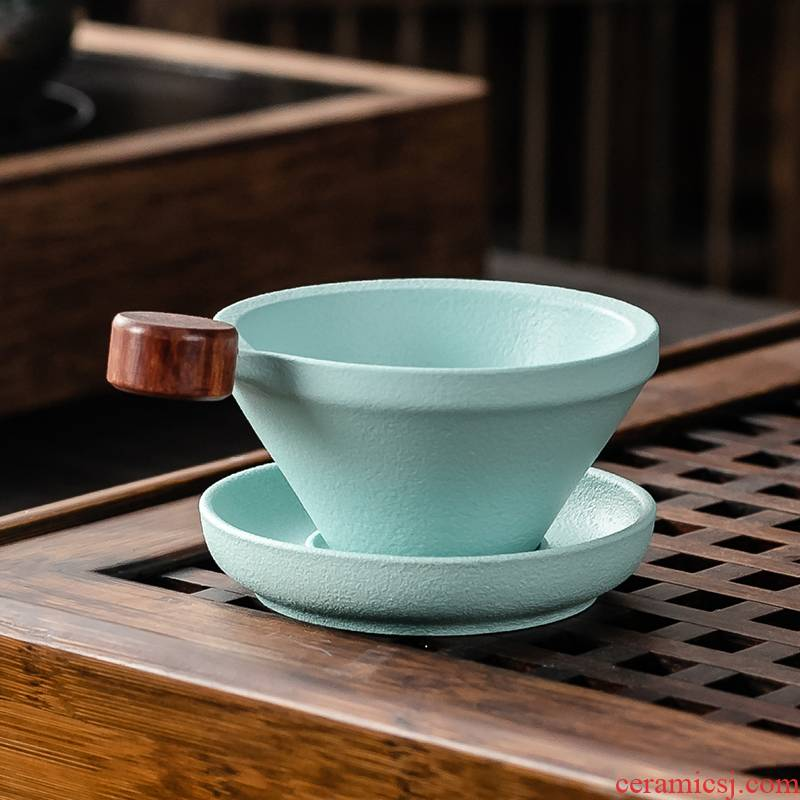 Japanese tea tea - leaf) exchanger with the ceramics filter creative screening other vintage kung fu tea tea tea accessories