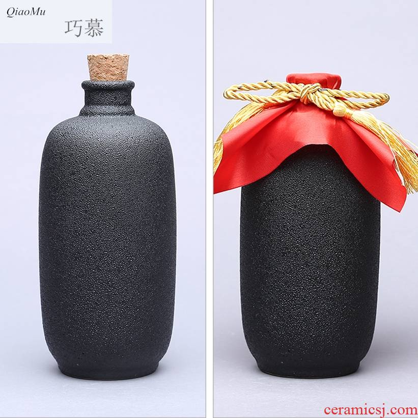 Qiao mu bottle combination packages mail ceramic bottle wine wine wine jars decorated vase furnishing articles points home