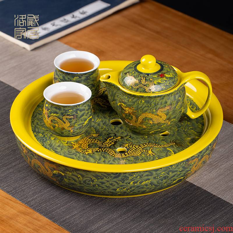 The ceramic teapot double anti hot filter single pot of household drinking water cups kung fu tea tea kettle