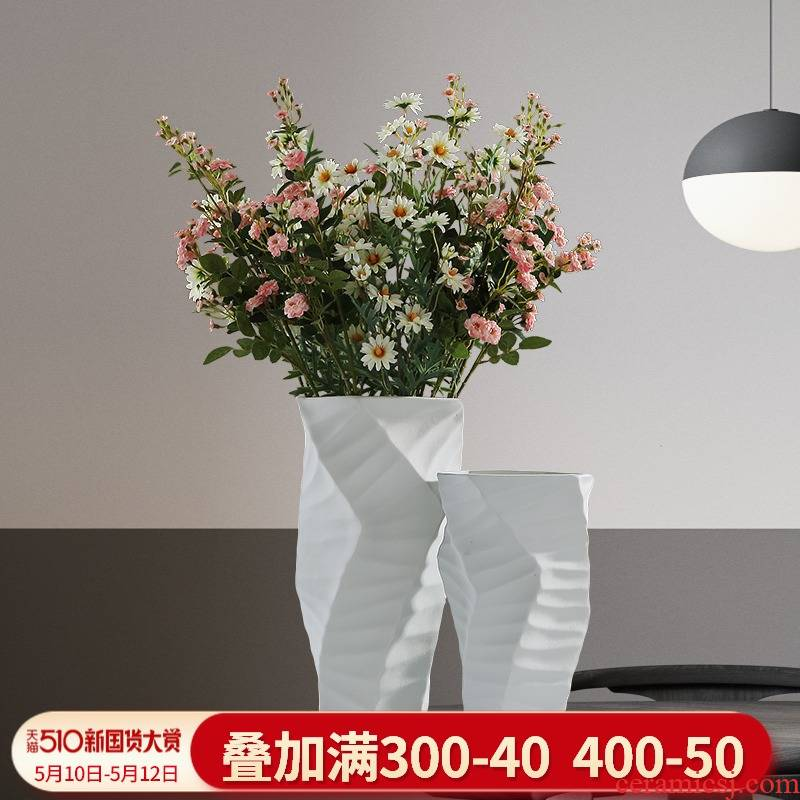 Nordic light much wind vase furnishing articles ceramic flower arrangement, the sitting room porch TV cabinet table modern home decoration