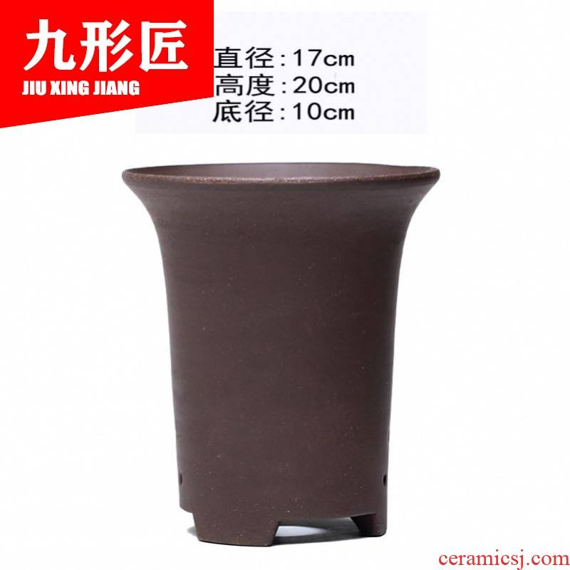 Yixing purple orchid basin to large diameter clivia ceramic basin dedicated bluegrass with pallets