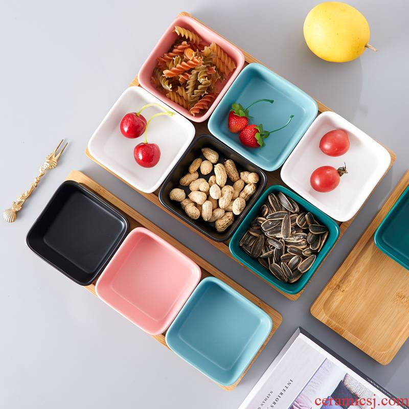 The Nordic ceramic tray was creative home snacks dry fruit tray melon seeds in The living room The nut candie's miscellaneous JinHe platter
