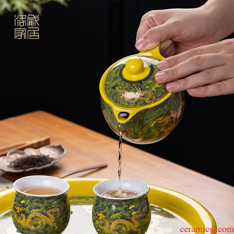 The ceramic teapot double anti hot filter single pot of domestic cup ultimately responds kung fu tea mercifully tea kettle