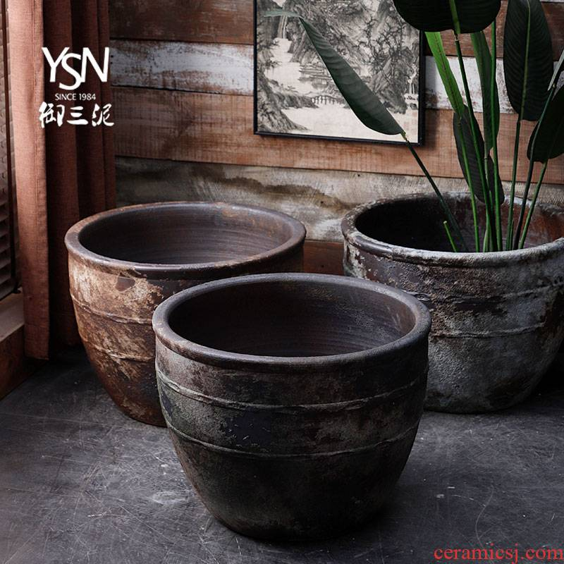 Royal three ceramic mud tank aquarium mottled restoring ancient ways do old bronze courtyard feel sea hotel outside cylinder of the home stay facility