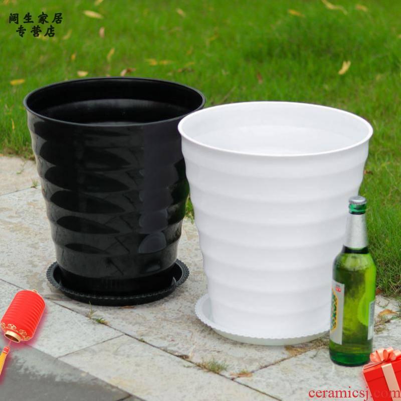Fleshy flowerpot plastic super extra large fruit rich tree high circular thread thickening imitation ceramic plastic containers