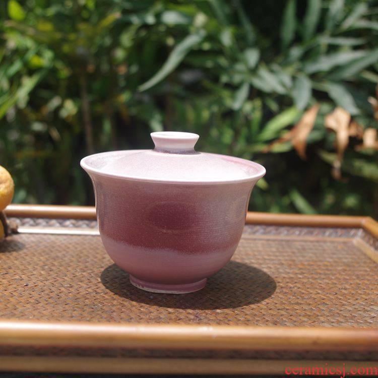 Submerged wood jingdezhen Japanese creative ceramic checking tureen them kung fu tea bowl thin body three cups