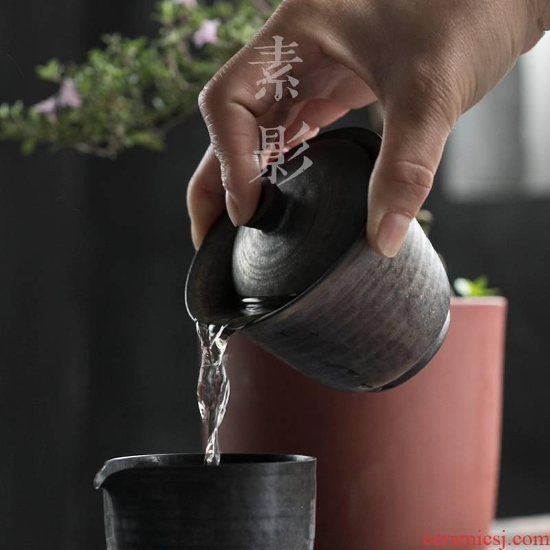 Qiao mu Japanese gold 3 to restoring ancient ways tureen stoneware hand grasp pot dry mercifully kung fu tea set manually the teapot