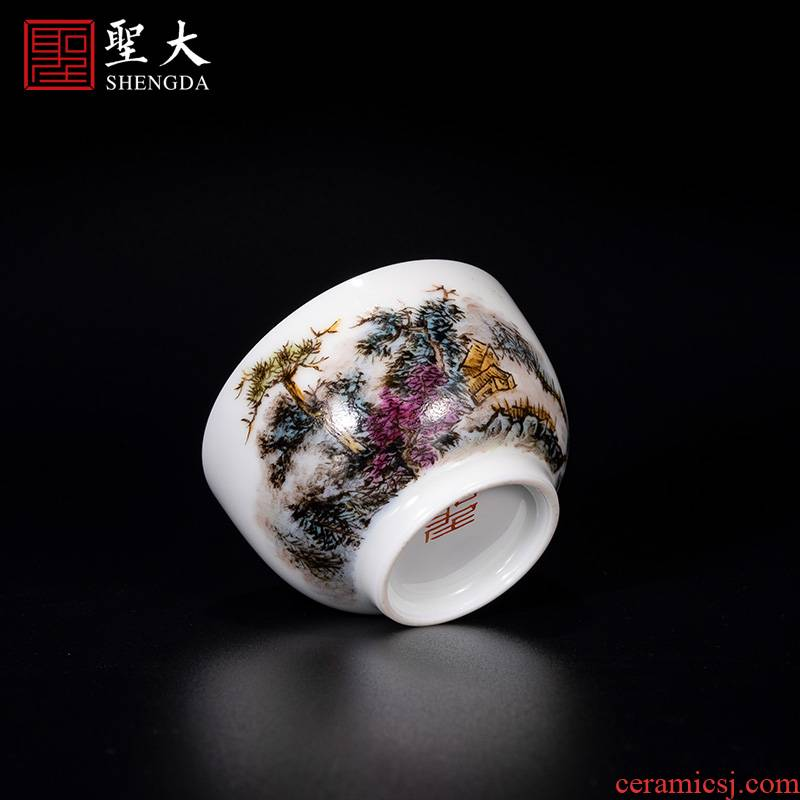 """Santa jingdezhen ceramic new see colour """"mountain forest classical masters cup tea pure manual hand - made kung fu tea cups"""