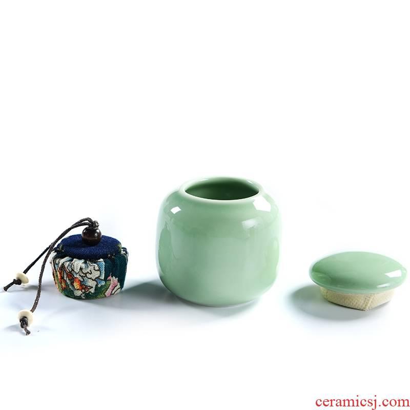 Qiao mu ceramic tea pot small contracted tea tea box sealed as cans of tea box receives box
