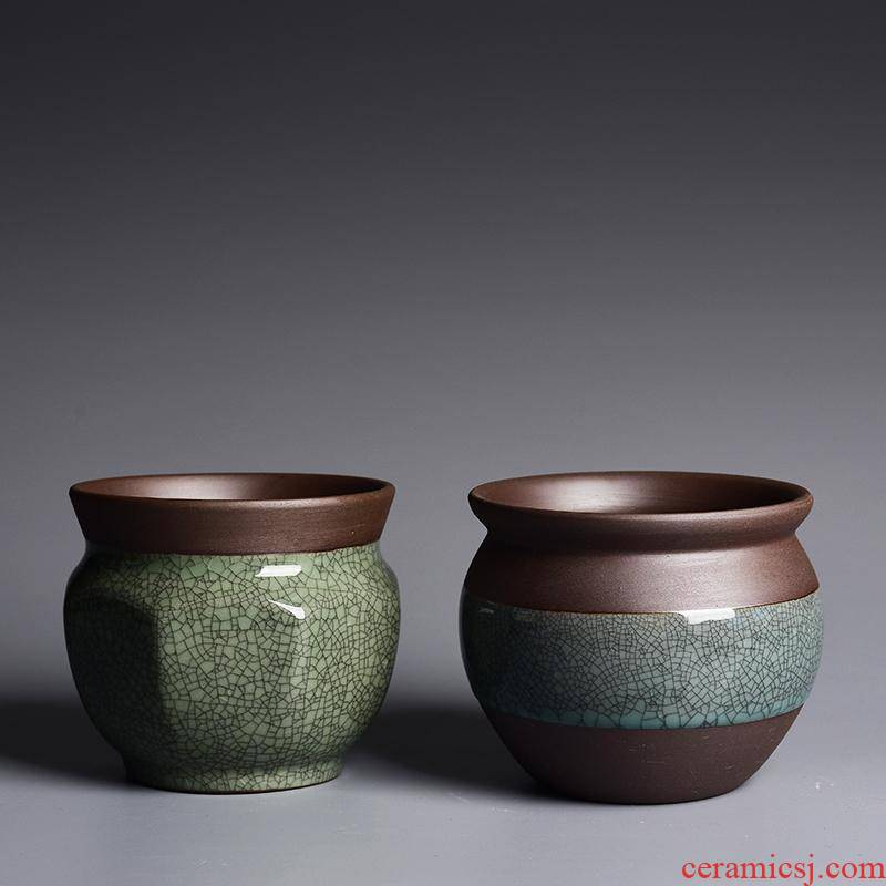 Violet arenaceous elder brother up slicing fleshy flowerpot ceramic creative green plant household butterfly orchid the plants clay flower POTS