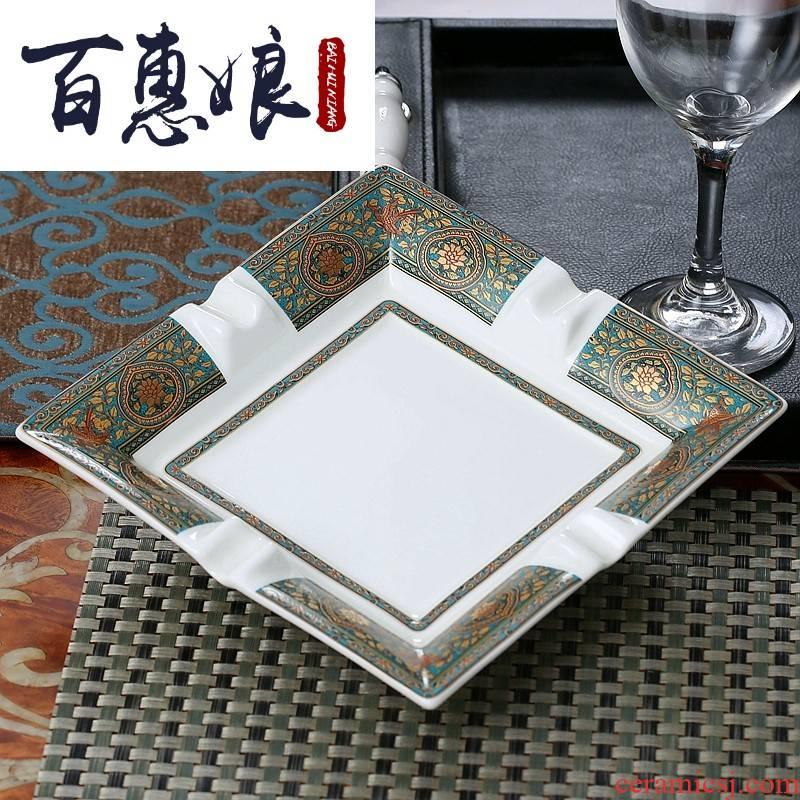 (niang creative European fashion KTV rooms large ipads porcelain ashtrays sitting room office move ceramic smoke