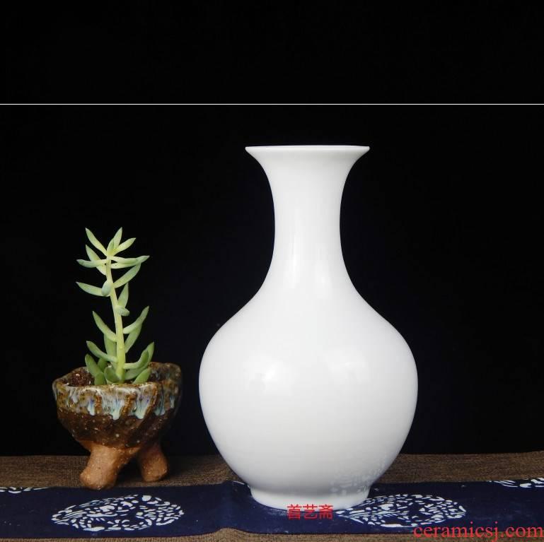 Package post porcelain of jingdezhen ceramics floret bottle household decorates sitting room place white mesa ikebana arts and crafts