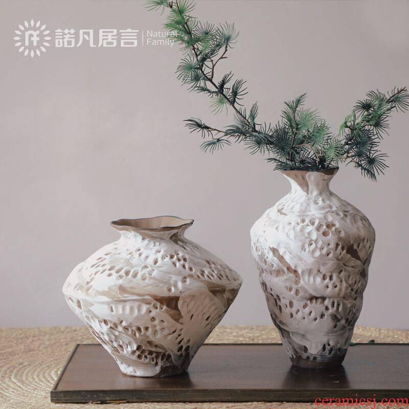 Mesa of ceramic vase continental zen wabi-sabi wind dried flower arranging flowers sitting room place, creative home TV ark, adornment
