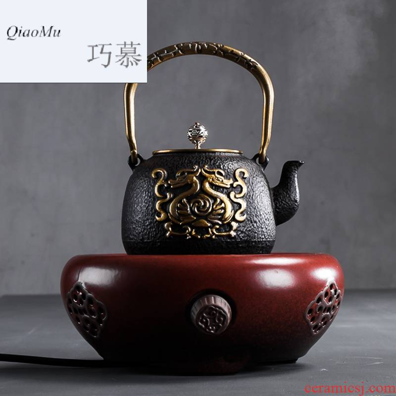 Qiao MuTie cast iron pot of uncoated Japan mini boiled tea stove electric TaoLu boiling water pot boil tea home outfit