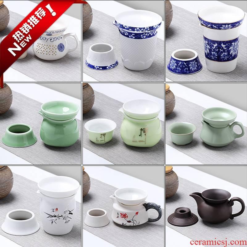 The new ceramic tea sets) fair keller tea ware integration points purple sand tea cups, justice cup