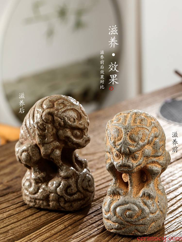 Pet jingdezhen checking clay tea to raise creative furnishing articles become angry insect lucky move play tea tea and tea accessories