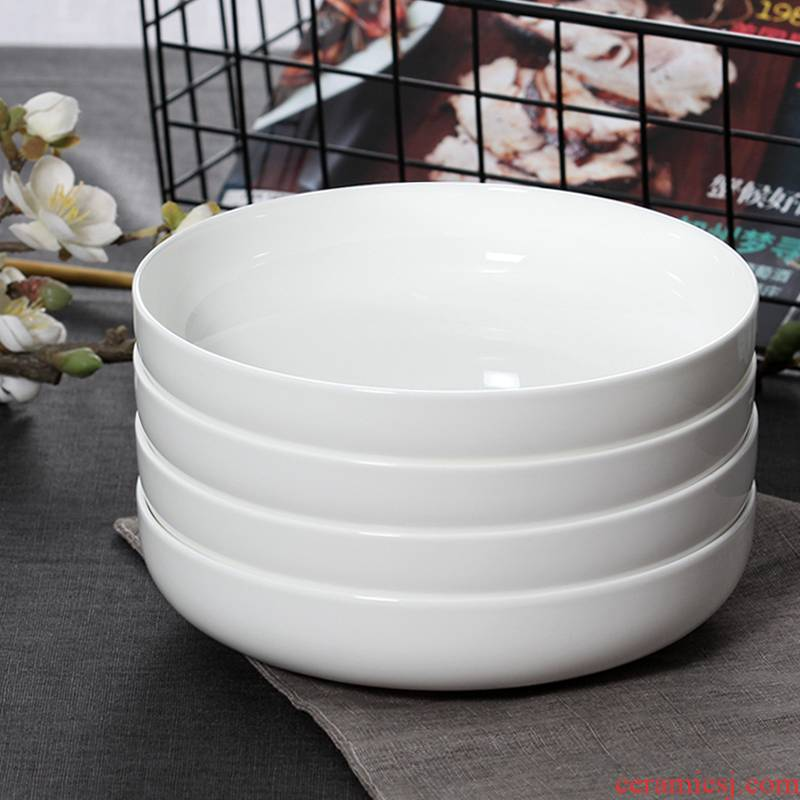 Four suit deepening dishes of household ceramics creative FanPan circular paella nest soup plate plate plate plate of ipads China