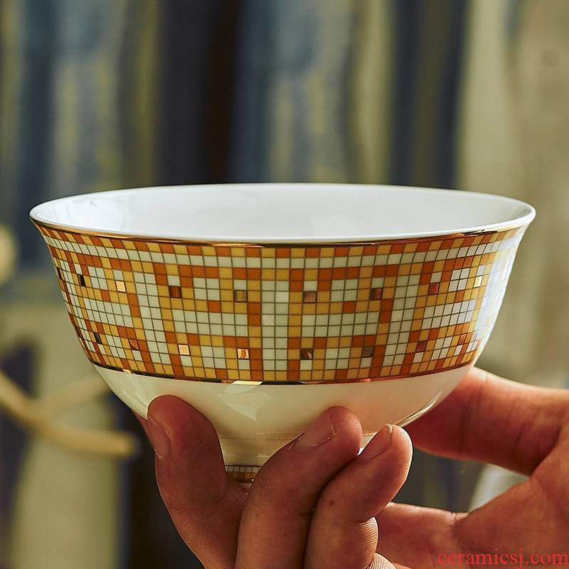 Qiao mu cutlery set dishes with jingdezhen ceramic ipads porcelain bowl chopsticks bowl dish dishes home European up phnom penh