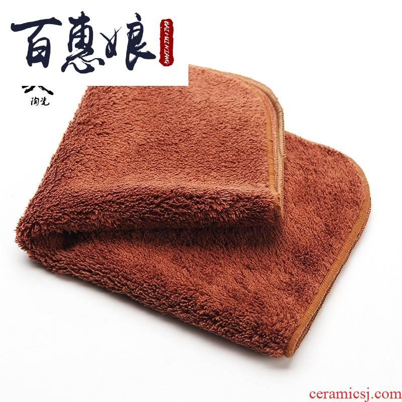 (niang jingdezhen bibulous thickening kung fu tea tea table cloth tea tea set with parts of tea tea tray towel