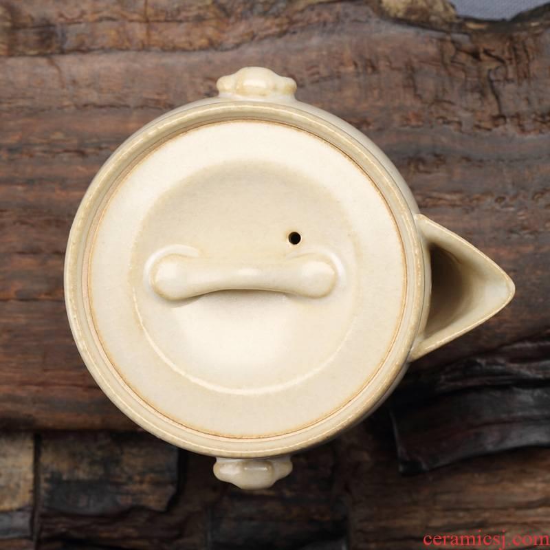 Qiao mu mini jingdezhen ceramic POTS kung fu tea kettle individual household TaoMingTang manually open the slice white clay pot