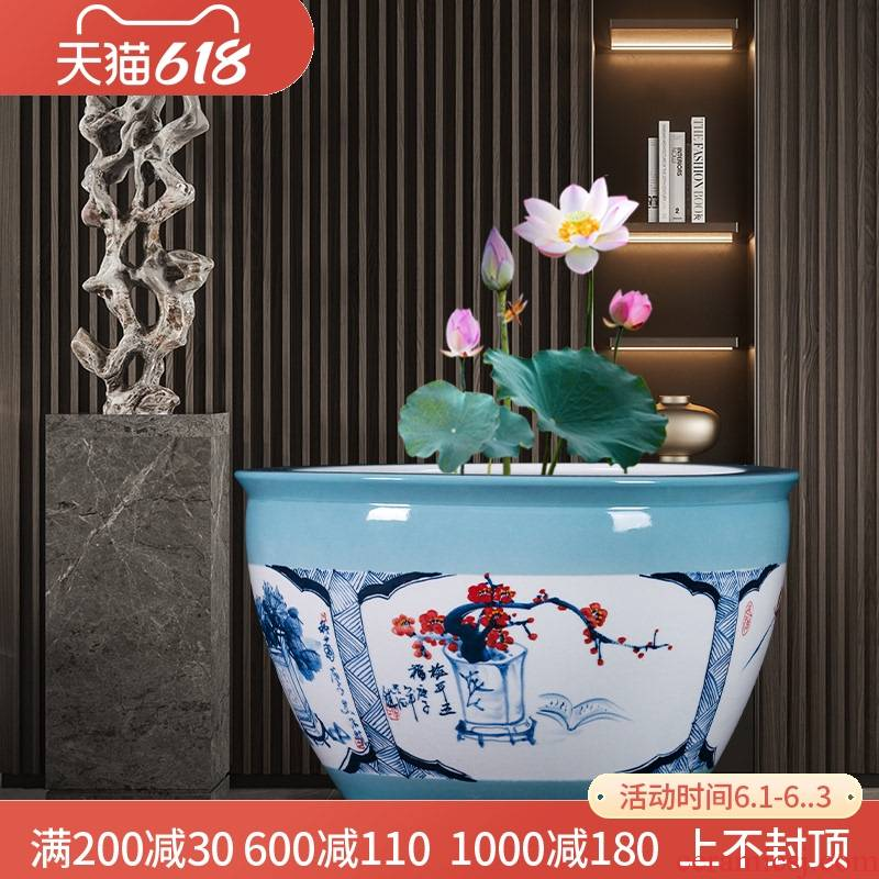 Jingdezhen ceramics aquarium by patterns home sitting room balcony is suing large courtyard landscape be born furnishing articles