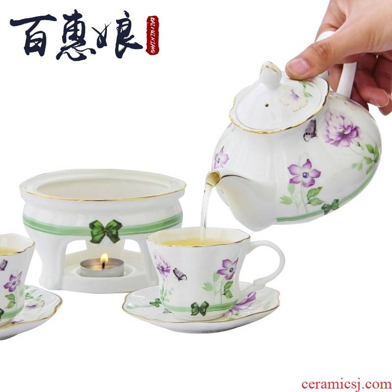 (niang heat - resistant ceramic heating glass fruit Korean thickening filtration flower pot teapot set glass bulbs