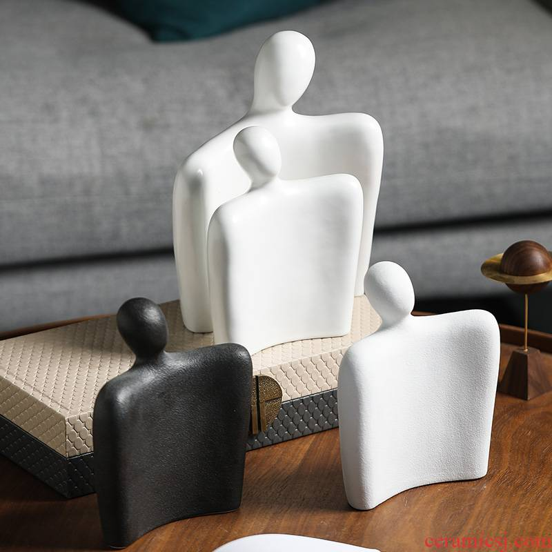 Ceramic creative abstract characters, furnishing articles of I and contracted food sitting room wine porch decoration wedding gift