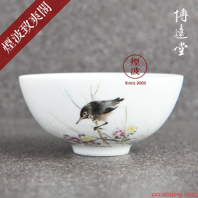 Those hand - made famille rose porcelain jingdezhen bo far hall treasure bead mountain eight friends hat to glass of tea cups