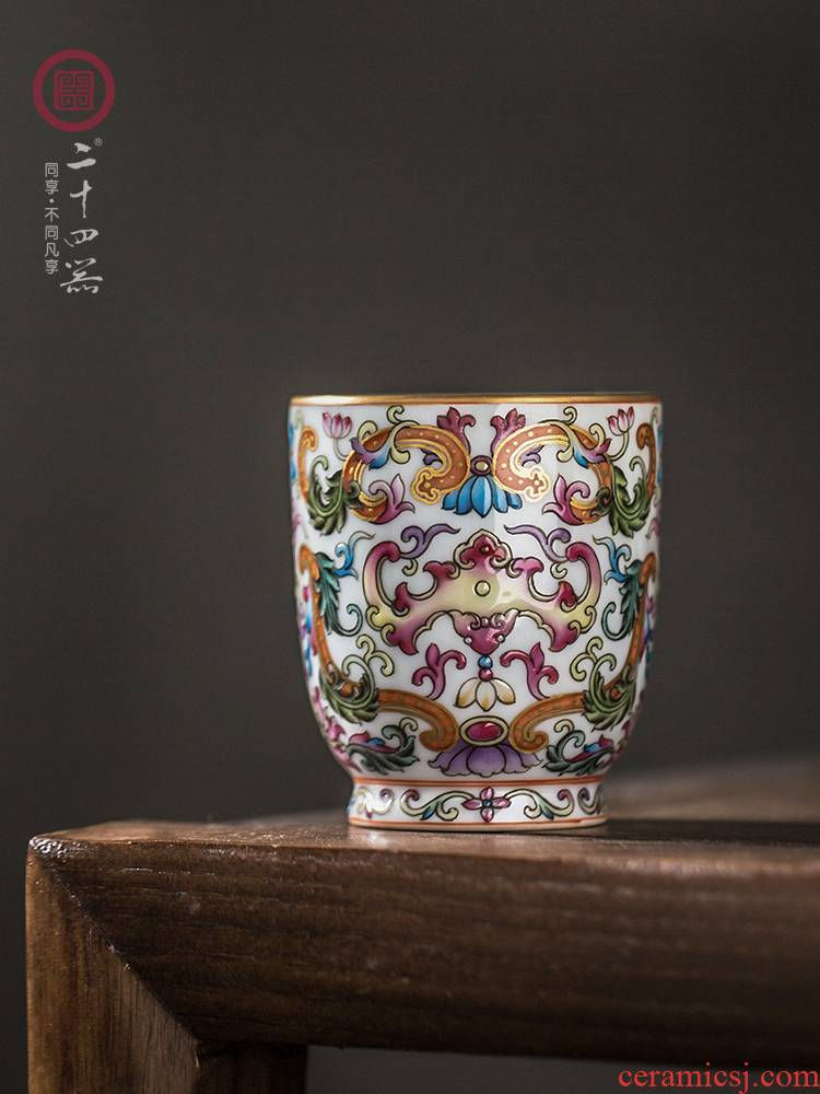 24 is pastel master cup single CPU jingdezhen hand - made ceramic kung fu tea cups sniff a single sample tea cup