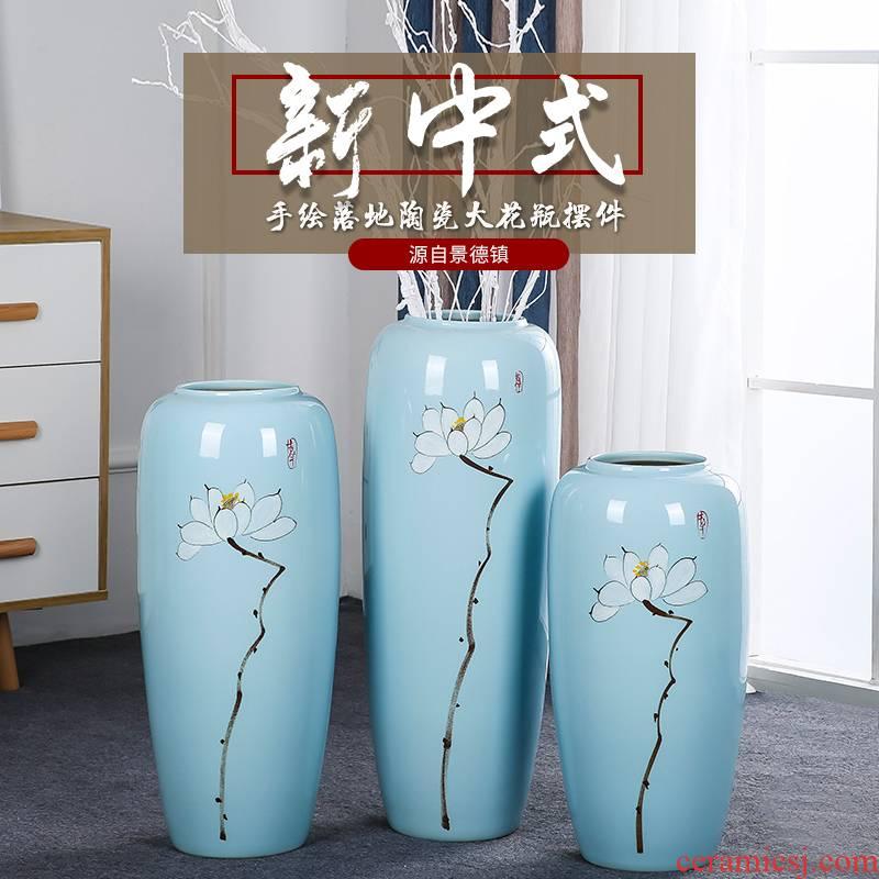 Ground ceramic vase large porcelain vases creative modern Chinese style living room home TV ark adornment furnishing articles