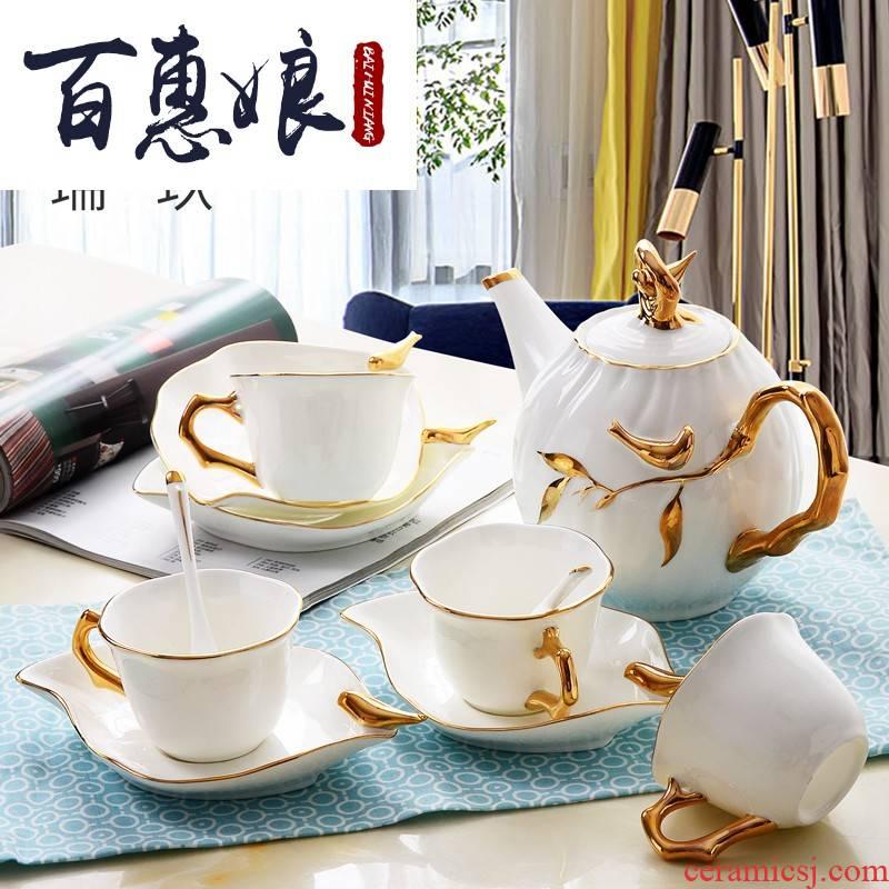 (niang tangshan ipads porcelain paint by hand coffee set between key-2 luxury villa example tea coffee set kit