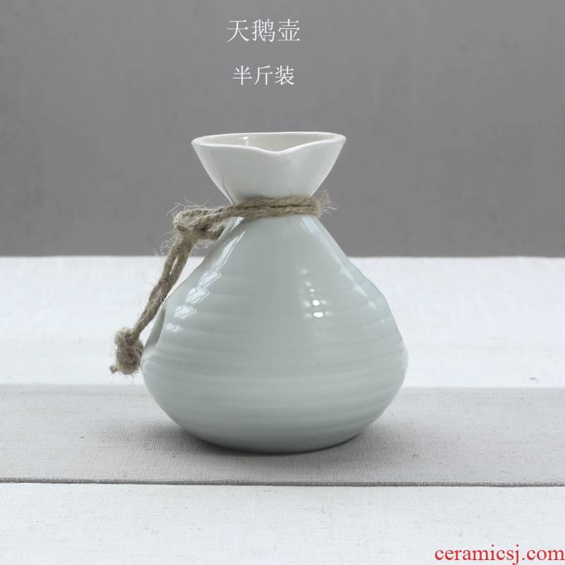 Qiao mu Japanese ceramics hip points wine decorative furnishing articles flask temperature wine pot liquor SanLiangJin outfit half jins of
