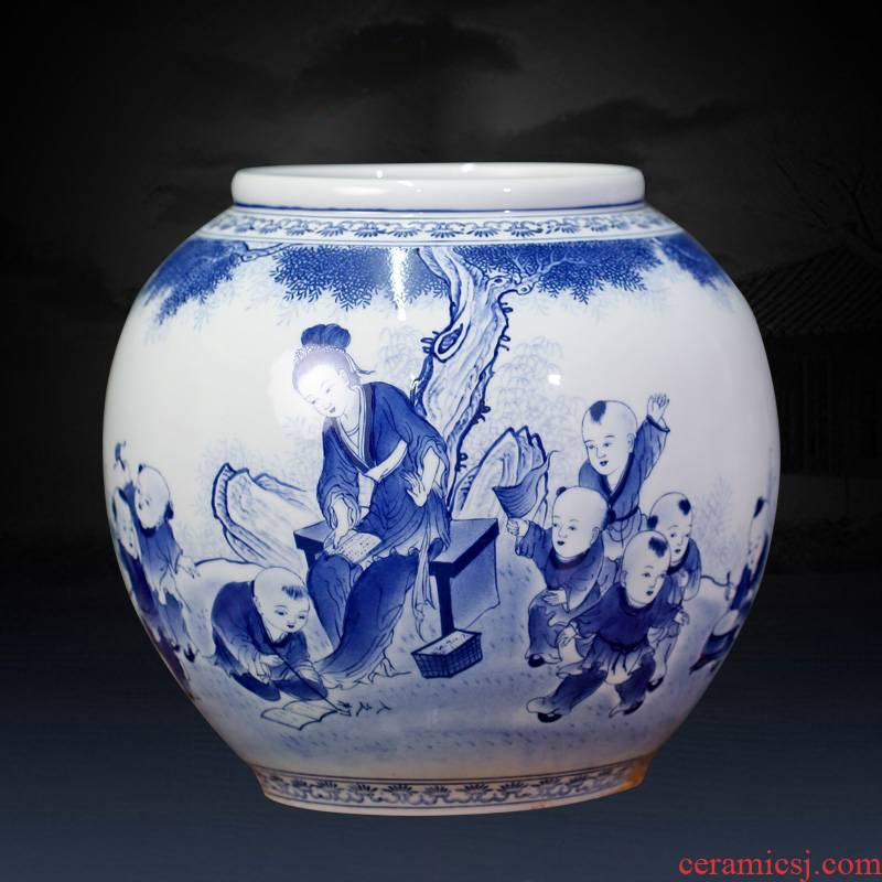 Jingdezhen ceramics glaze under mesa place character vase household to the sitting room porch TV ark, adornment