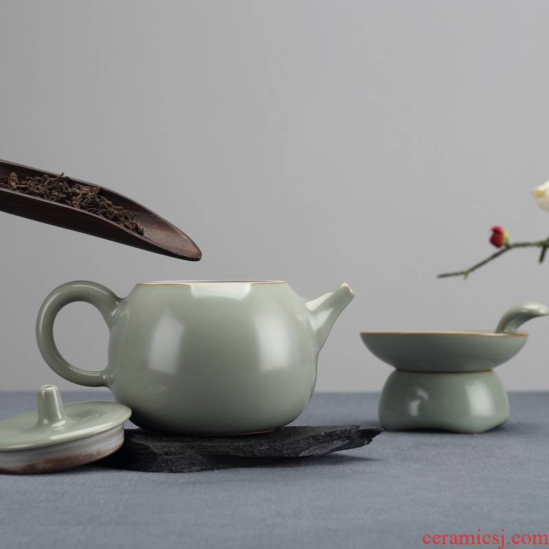 Qiao mu jingdezhen your up with discretion cup suit contracted household ceramics kung fu tea set can raise the teapot