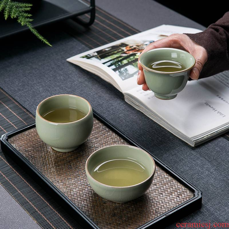 Jingdezhen up kung fu tea cup ice crack ceramic masters cup single cup large personal special sample tea cup bowl is light